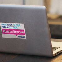 newseum express yourself sticker