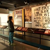 A Newseum exhibit looked at the challenges of reporting on Hurricane Katrina and its devastating effects on New Orleans and the Mississippi coast.