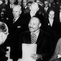 King Accepts Peace Prize in Norway, 1964