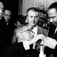 LBJ and Martin Luther King Jr.