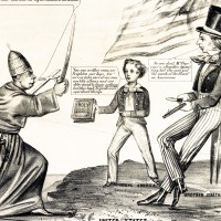 Nativist Political Cartoon Warns of Catholic 'Threat,' 1855 Teaser
