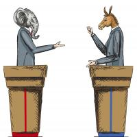 Candidate debate illustration