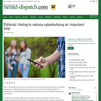 Editorial Urges Action to Ban Cyberbullying, 2018 teaser
