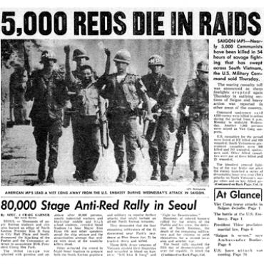 Stars and Stripes 1968 front page