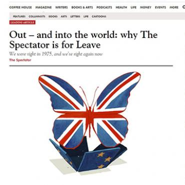 'The Spectator' Supports Exiting EU, 2016
