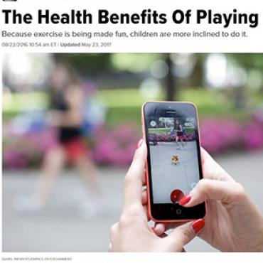 Story Touts Health Benefits of Pokémon Go, 2016 Teaser