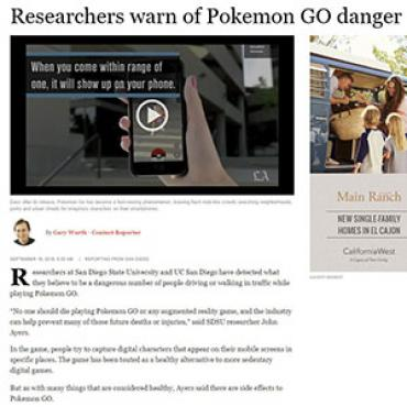 Article Warns of Dangers of Pokémon Go, 2016 Teaser