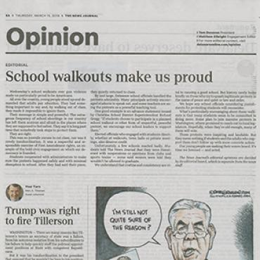 Editorial Praises National School Walkout, 2018 Teaser