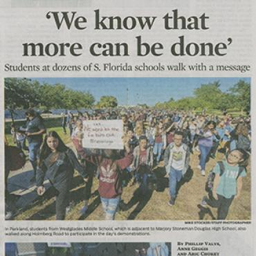 Paper Covers Fla. Student Walkouts, 2018 (1 of 2) Teaser