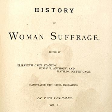 'History of Woman Suffrage' Title Page Teaser