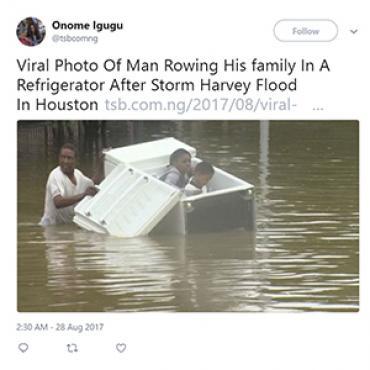 Family Escapes Flood in Refrigerator