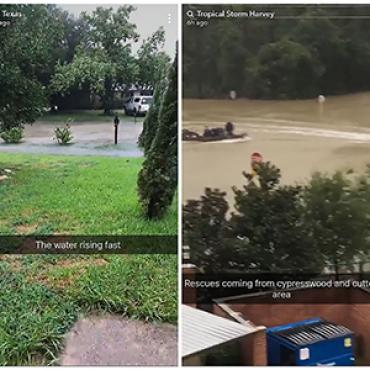 Snapchat Users Share Flood Photographs, 2017