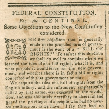 Essays and Letters on Merits of Constitution (1 of 2) Teaser