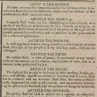 Paper Prints Early Version of Bill of Rights Teaser