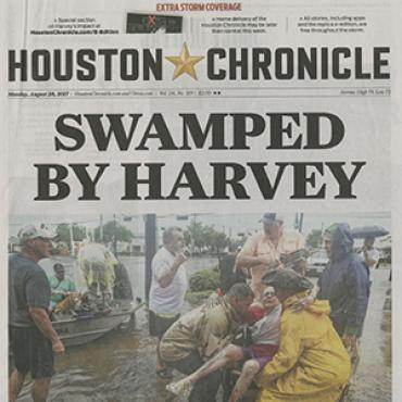 Houston Paper Covers Harvey Flooding, 2017 (1 of 3)