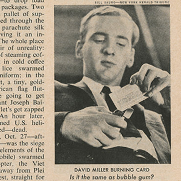 Magazine Profiles Draft Card Burner, 1965 teaser