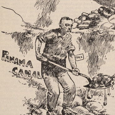 Cartoon Takes on Panama Canal Charges, 1908 teaser