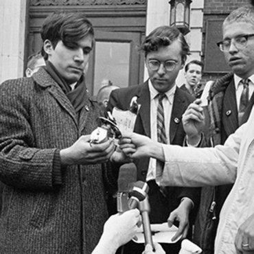 Vietnam War Protesters Burn Draft Cards, 1966 teaser