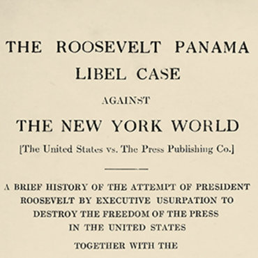 Judge Rules for Newspaper in Panama Libel Case, 1909 teaser