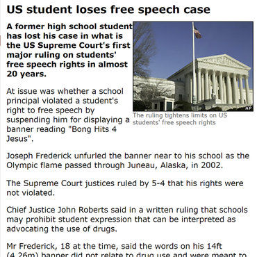 Student Loses 'Bong Hits' Free Speech Case, 2007 teaser