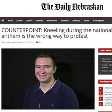Student Column: Kneeling Is Wrong Action, 2017 teaser