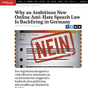 German Online Hate Speech Law 'Backfiring,' 2018 teaser
