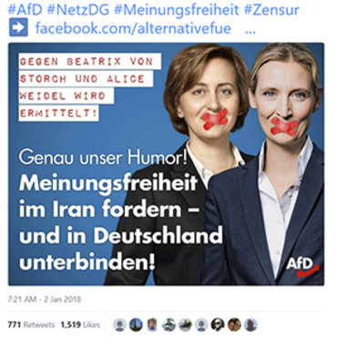 AfD Party Calls NetzDG Law Censorship, 2018 teaser