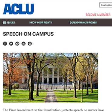 ACLU's Position on Campus Free Speech teaser