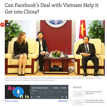 VOA Analyzes Facebook's Vietnam Deal, 2017 teaser