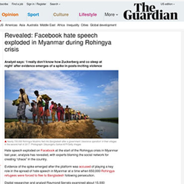 Story Details Online Hate Speech in Myanmar, 2018 teaser