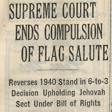 Supreme Court Ends Forced Flag Salute, 1943 (1 of 2) Teaser