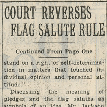 Supreme Court Ends Forced Flag Salute, 1943 (2 of 2) teaser