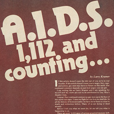 LGBT Magazine Raises Alarm Over AIDS, 1983 teaser