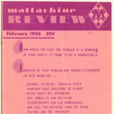 Mattachine Review 1956