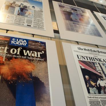 Sept. 11 gallery at the Newseum