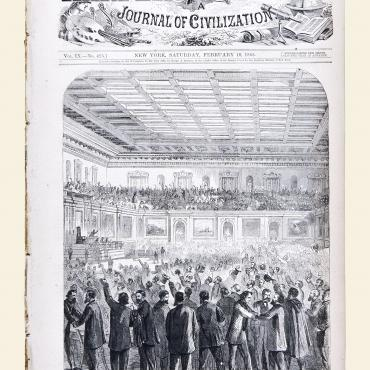 Illustration of the Passage of the 13th Amendment, 1865