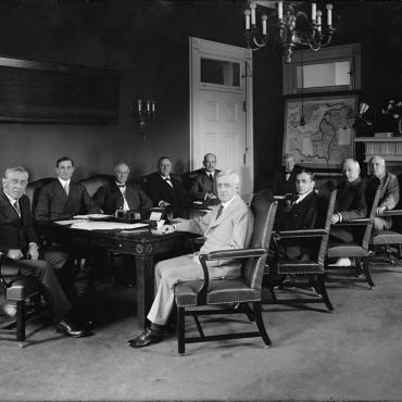 President Wilson and His Cabinet