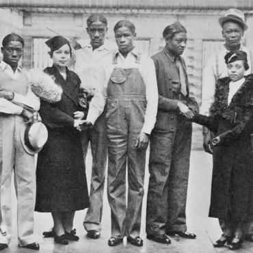 NAACP's Juanita Jackson Meets With Scottsboro Boys