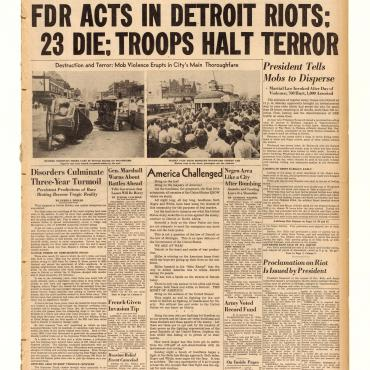'The Detroit Free Press' Coverage of Riots, 1943
