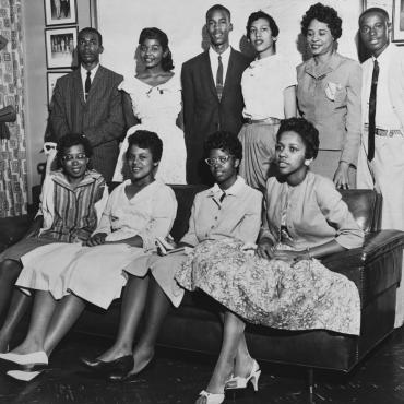 Little Rock Nine Integrate Arkansas Public Schools, 1957