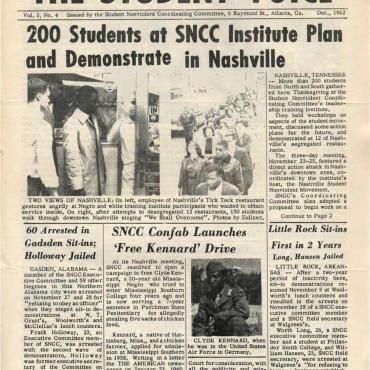 "The Student Voice announces a ""leadership training institute"" in Nashville, Tenn."