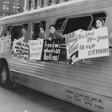 Interracial Groups Test Bus Desegregation in South, 1961
