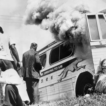 Mob Attacks Freedom Riders, 1961