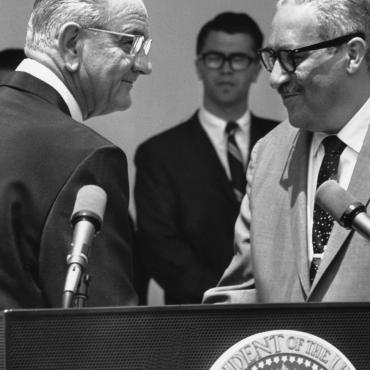 Thurgood Marshall Sworn In