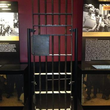Replica of jail cell door