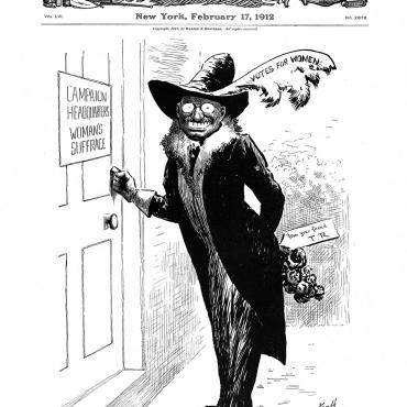 Political Cartoon of Theodore Roosevelt, Feb. 17, 1912