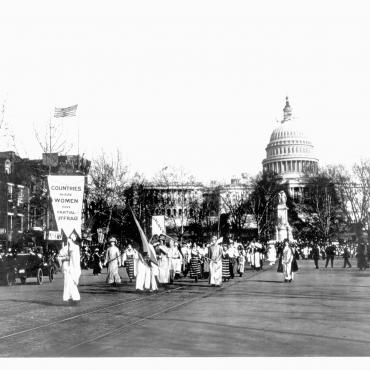 Woman Suffrage Procession in Washington, D.C., 1913