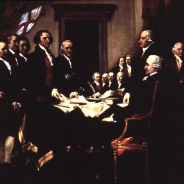 Declaration of Independence painting