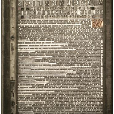 Printing Plate for Declaration of Independence