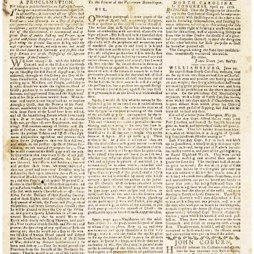 News Reports of the Revolutionary War from 1776